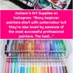 "Jackson's Art Supplies on Instagram: ""Many beginner painters start with watercolour but they're also loved by someone of the most successful professional painters. The best…"""