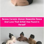 Serene Ceramic Women Resemble Peace And Love That Artist Has Found In Herself