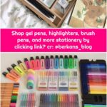 Shop gel pens, highlighters, brush pens, and more stationery by clicking link❤ cr: @berkans_blog