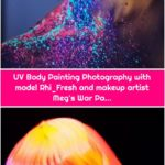 UV Body Painting Photography with model Rhi_Fresh and makeup artist Meg's War Pa...