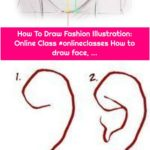 How To Draw Fashion Illustration: Online Class #onlineclasses How to draw face, ...