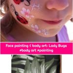 Face painting & body art: Lady Bugs #body art #painting