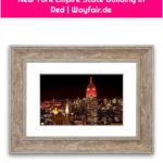 East Urban Home Framed Photo Print New York Empire State Building in Red | Wayfair.de