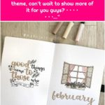 """BuJo Lili on Instagram: """"My february cover and quote page, thanks for the love for my february theme, can't wait to show more of it for you guys💖 • • • • • • •…"""""""