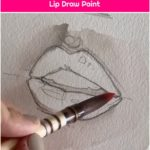 Red Watercolor Painting Tutorial Lip Draw Paint