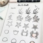 60 Doodle Tutorials for Your Bullet Journal #sealife #artanddrawing 60 Doodle Tu ...