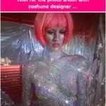 Glitter Body Paint by Roseanna Velin for the photo shoot with costume designer ...
