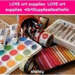LOVE art supplies LOVE art supplies #ArtSuppliesAesthetic