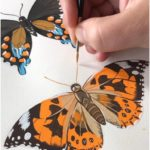 Painting Painted Ladies. Gouache Painting by Philip Boelter