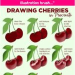 """Art with Flo on Instagram: """"Drawing cherries in Procreate! You can check the video on YouTube to see every step in detail ❤ APP: Procreate BRUSHES: Illustration brush…"""""""