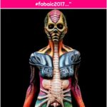 """Bad Ass Stencils on Instagram: """"Amazing work! This body paint was done by Matteo Arfanotti and Nick Wolfe at FABAIC 2017! Bad Ass Stencils used for texture. #fabaic2017…"""""""