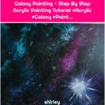 Galaxy Painting - Step By Step Acrylic Painting Tutorial #Acrylic #Galaxy #Paint...