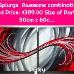 Red Splurge Awesome combination of Red Price: $389.00 Size of Parts: 50cm x 60c...