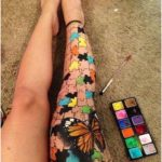 #Applied #Body Self Applied Body Art painted by Hanny Eisen