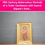 19th Century Watercolour Portrait of a Tudor Gentleman with Sword, Signed & Date...