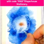 "Watercolor Dandelion Art👉www.paperhouse.me💝Get $3 with code ""PIN3""💝Paperhouse Stationery"