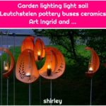 Garden lighting light sail Leutchstelen pottery buses ceramics Art Ingrid and ...