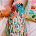paint good mood only on the leg