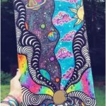 Psychedelic Rainbow Art Painting - - #Art #painting #Psychedelic #rainbow