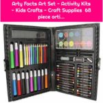 Arty Facts Art Set - Activity Kits - Kids Crafts - Craft Supplies 68 piece arti...