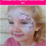 Cherry blossom face painting - Monkeys and Magnolias face and body art