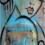 Abstract nude painting original modern pop art contemporary painting by Fidostudio - deep love
