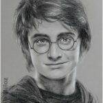 Portrait of Daniel Radcliffe, aka Harry Potter - Art
