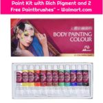 """Face Painting Kit Face Painting Party Kit Art Make-up Set Body Paint Kit with Rich Pigment and 2 Free Paintbrushes"" - Walmart.com"