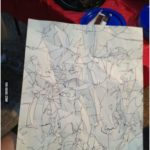 next time I'm bored. ...crumble paper, open it then trace the lines :) next tim...