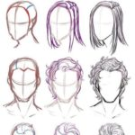 How to draw hair (step by step picture instructions) - paint Emma Fisher drawings