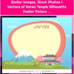 Similar Images, Stock Photos & Vectors of Korea Temple Silhouette Poster Palace ...