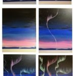Painting simple Northern Lights - painting step by step - Merys Stores