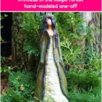 """Sculpture ceramic elf figure """"Princess in the magic forest"""" hand-modeled one-off"""