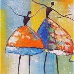 Fantastic abstract art, painting up tire fabric, ballet painting, wall art, art h ...