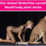 Safari Animal Similarities Lennette Newell body paint series