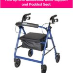 Drive Medical r726bk Rollator with Fold Up and Removable Back Support and Padded Seat
