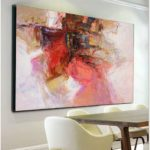 Large wall art, abstract painting, modern art, abstract art, modern art original painting, canvas art, large canvas art, red painting