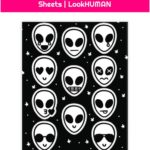 Alien Emoji Sticker and Decal Sheets | LookHUMAN