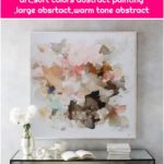 modern abstract art,Contemporary art,soft colors abstract painting ,large absrtact,warm tone abstract