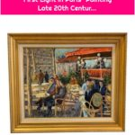 """Late 20th Century Andre Bardet """"First Light in Paris"""" Painting Late 20th Centur..."""
