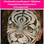 "Everything Face And Body Art on Instagram: ""Rosie rocks! Check out her other amazing artwork @finelinesfaceandbodyart #Sillyfarm #facepainting #facepainters ##facepainted…"""