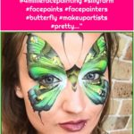 """Everything Face And Body Art on Instagram: """"Love everything about this picture... @4milliefacepainting #sillyfarm #facepaints #facepainters #butterfly #makeupartists #pretty…"""""""
